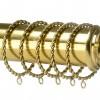 Rope twist design curtain ring on rail