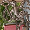 Close-up o  the Cherub Design on the Shelf Bracket