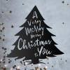 Christmas Tree Steel Wall Art in Situ on a Rustic Wall