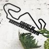 The Circuit de Barcelona-Catalunya Racing Track Wall Art in Situ in the Sitting Room