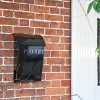 """""""Cityscape"""" Black Contemporary Post Box With Lock and Newspaper Holder by the Front door"""