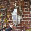 """Cleobury"" Antique Silver Wall Lantern to Scale"