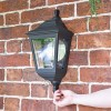 """""""Clifton"""" Flush Wall Mounted Porch Light to Scale"""