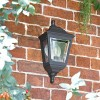 """""""Clifton"""" Flush Wall Mounted Porch Light in Situ on a Garden Wall"""