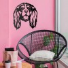 Cavalier King Charles Spaniel Wall Art in Situ on a Pink Wall