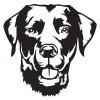 Metal Labrador Wall Art Finished in Black