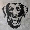 Labrador Metal Wall Art Silhouette on a Rustic Wall