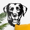 Labrador Wall Art in Situ on a White Wall