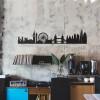Black London Silhouette Wall Art on a Rustic Wall