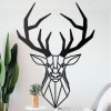 Geometric Stag Wall Art on a White Wall