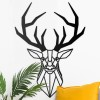 Stag Geometric Wall Art on a Wall Next to an Arm Chair