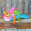 Metal Chameleon Garden Ornament in a Colorful Finish