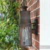 Contemporary Antique Copper Square Wall Lantern Side On