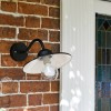 Contemporary Barn Yard Outdoor Wall Light Installed By Front Door