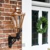 Copper hexagonal porch wall mounted lantern