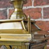 Corner finial on brass Gothic lantern