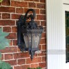 """Cotsworld Collection"" Ornate Top Fix Wall Lantern in Situ Next to a Front Door"