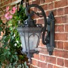 """Cotsworld Collection"" Ornate Top Fix Wall Lantern in an Antique Bronze Finish"