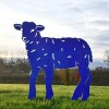 Curly Lamb Silhouette in Blue