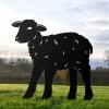 Black Curly Lamb Silhouette