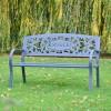 Family Name Iron Bench in Situ