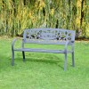 Personalised Family Name Iron Bench in the Garden