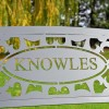 """Family Name Iron Bench with the Name """"Knowles"""""""