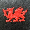Close-up of the Welsh Dragon Emblem on the Post Box
