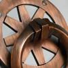 Close up image of antique copper finish