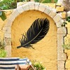 Feather Wall Art in Use in the Garden