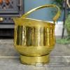 """""""Blenheim"""" Coal Bucket Created From Brass"""