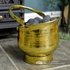 Coal Bucket Finished in a Polished Brass