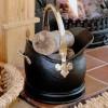 Black & Brass Coal Bucket in Situ