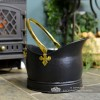 Traditional Coal Bucket Finished in Black & Polished Brass