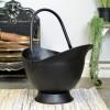 Black Iron Traditional Coal Bucket