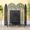 """French Victoriana"" Black Fire Guard In Living Room Setting"