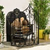 The Waterford Black Fire screen & Fire Guard In Living Room Setting