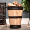 """""""Lornedale"""" Wooden and Cast Iron Log Holder in Situ Holding Logs"""