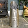 Traditional Coal Hod Finished in an Antique Pewter