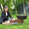 Iron Kadai Fire Bowl Lit For Warmth