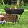 Traditional Iron Kadai Fire Bowl in Situ in the Garden
