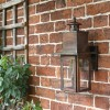 Flush Fitting Copper Wall Light In An Antique Finish