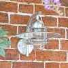 Galvanised Modern Overhanging Wall Light on the Garden Wall