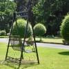 Garden metalwork ornate scroll swing seat
