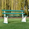 Simple park bench with disks that can be personalised - call to ask