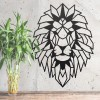 Geometric Lion Steel Wall Art in the Home