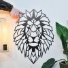 Geometric Lion Steel Wall Art to Scale