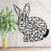 Geometric Rabbit Wall Art in a Black Finish