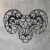 Geometric Steel Ram Wall Art in on a Rustic Wall