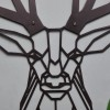 Close-up of the Black Finish on the Geometric Stag Steel Wall Art